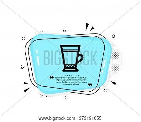 Latte Coffee Icon. Quote Speech Bubble. Hot Drink Sign. Beverage Symbol. Quotation Marks. Classic La