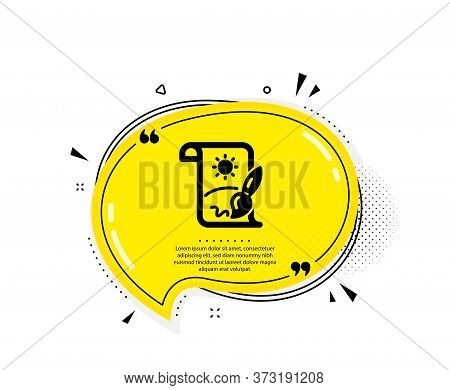 Creative Painting Brush Icon. Quote Speech Bubble. Creativity Sign. Graphic Art Symbol. Quotation Ma