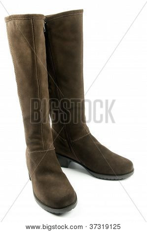 Pair Of Brown Female Boots