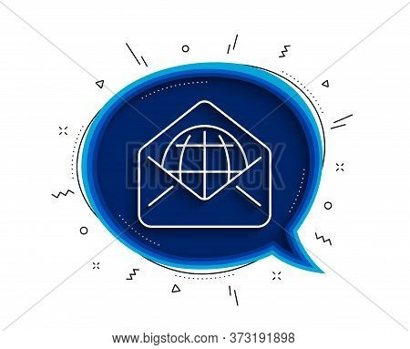 Web Mail Line Icon. Chat Bubble With Shadow. Message Correspondence Sign. E-mail Symbol. Thin Line W