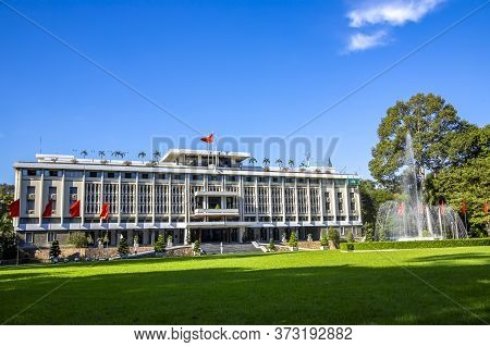 Asia, Vietnam, Hochiminh, November, 15, 2014 - Reunification Palace, Also Known As The Independence