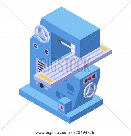 Electric Milling Machine Icon. Isometric Of Electric Milling Machine Vector Icon For Web Design Isol