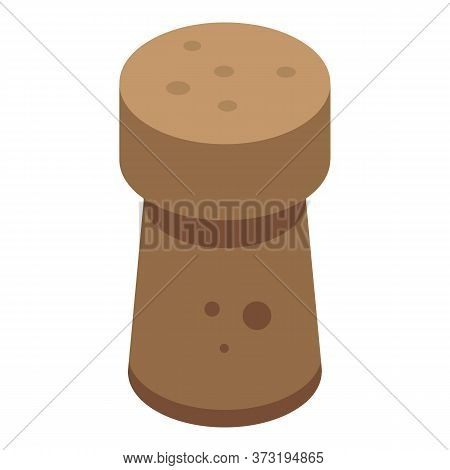 Wine Cork Icon. Isometric Of Wine Cork Vector Icon For Web Design Isolated On White Background