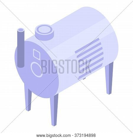 Winemaker Equipment Icon. Isometric Of Winemaker Equipment Vector Icon For Web Design Isolated On Wh