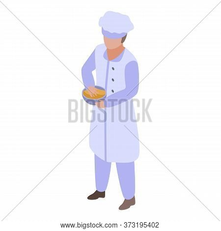 Chef Baker Icon. Isometric Of Chef Baker Vector Icon For Web Design Isolated On White Background