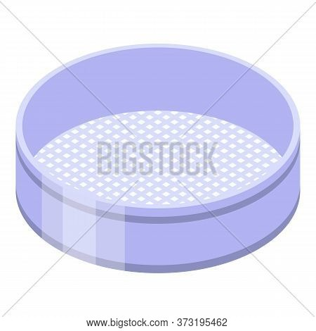 Confectioner Sieve Icon. Isometric Of Confectioner Sieve Vector Icon For Web Design Isolated On Whit
