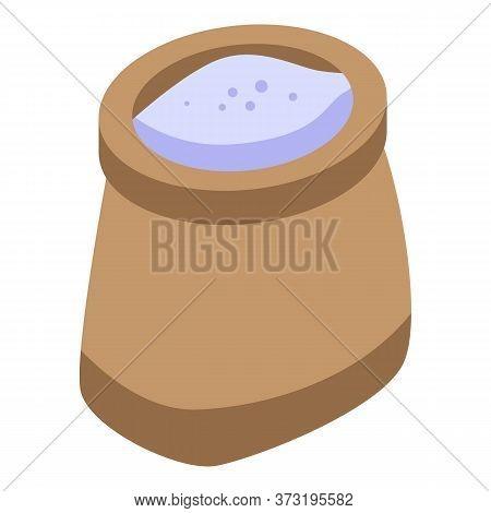 Flour Sack Icon. Isometric Of Flour Sack Vector Icon For Web Design Isolated On White Background