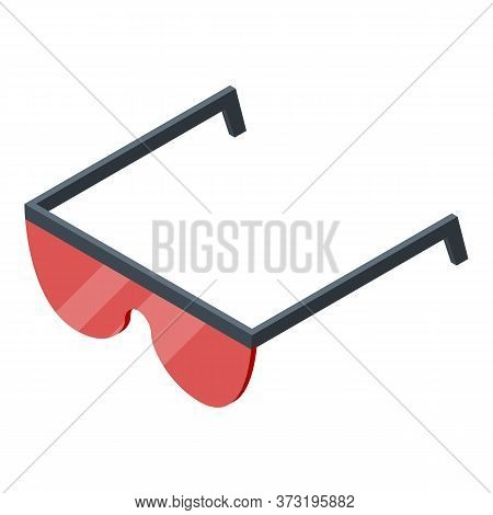 Laser Hair Removal Eyeglasses Icon. Isometric Of Laser Hair Removal Eyeglasses Vector Icon For Web D