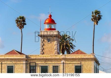 Lagos, Portugal - 5 March 2020: Lighthouse At Ponta Da Piedade