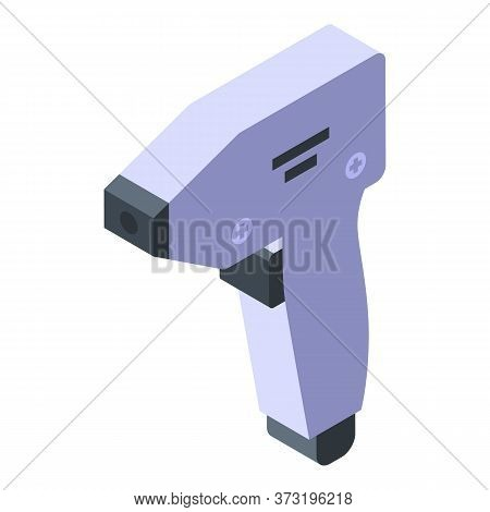 Laser Hair Removal Pistol Icon. Isometric Of Laser Hair Removal Pistol Vector Icon For Web Design Is