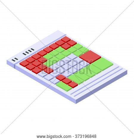 Audio Keyboard Icon. Isometric Of Audio Keyboard Vector Icon For Web Design Isolated On White Backgr