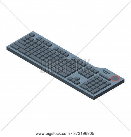 Workplace Keyboard Icon. Isometric Of Workplace Keyboard Vector Icon For Web Design Isolated On Whit