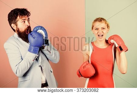 Defend Your Opinion In Confrontation. Knockout Punching. Win The Fight. Strength And Power. Problems