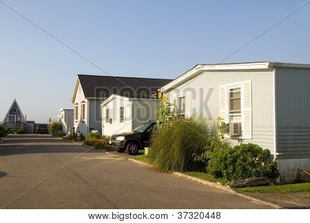 Mobile Homes In Trailer Park Condominium Oceanfront In Montauk Long Island New York The Atlantic Oce