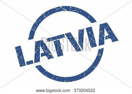 Latvia Stamp. Latvia Grunge Round Isolated Sign