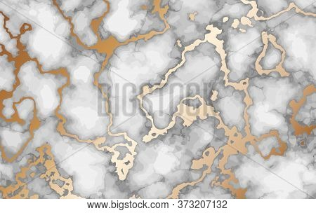Marble Background With Inlaid Gold. Luxury Marble Texture.