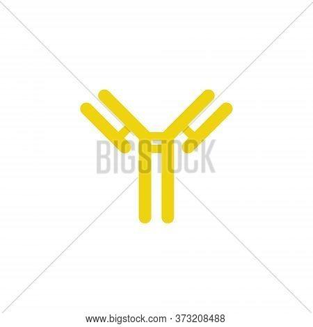 Antibody, Immunoglobulin Flat Icon, Vector Color Illustration
