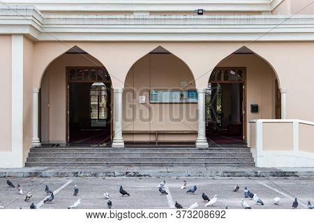 Victoria, Seychelles - February 3th, 2019: The Main Entrance Of The Victoria Mosque In Victoria, Sey