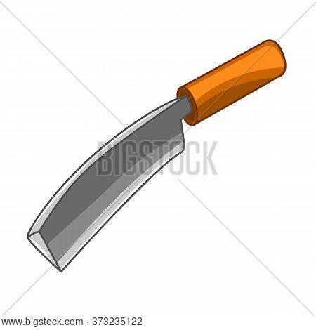 Knife Isolated On White Background. Vector Illustration