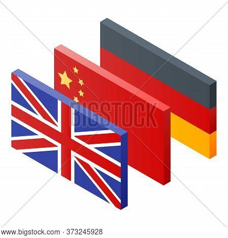Foreign Language Vocabulary Icon. Isometric Of Foreign Language Vocabulary Vector Icon For Web Desig