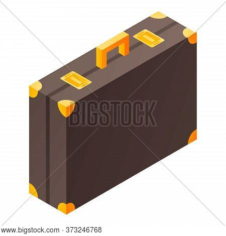 Butler Suitcase Icon. Isometric Of Butler Suitcase Vector Icon For Web Design Isolated On White Back