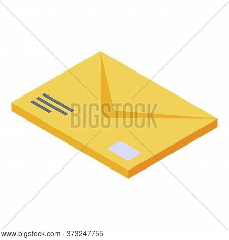 Courier Delivery Mail Icon. Isometric Of Courier Delivery Mail Vector Icon For Web Design Isolated O