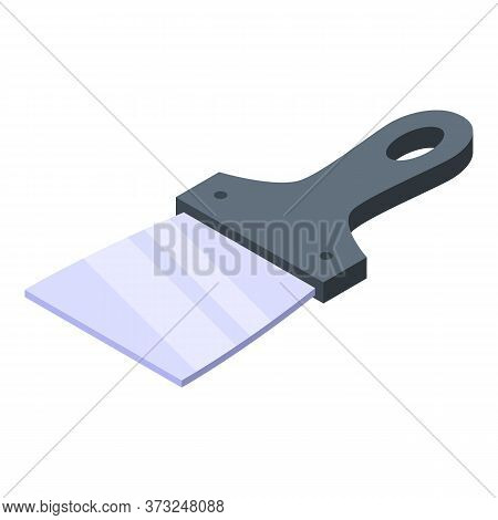 Scraper Putty Knife Icon. Isometric Of Scraper Putty Knife Vector Icon For Web Design Isolated On Wh