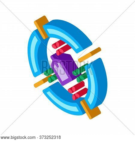 Label Target Aim Icon Vector. Isometric Label Target Aim Sign. Color Isolated Symbol Illustration