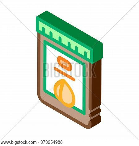 Nut Butter Jar Icon Vector. Isometric Nut Butter Jar Sign. Color Isolated Symbol Illustration