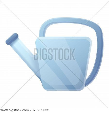 Steel Watering Can Icon. Cartoon Of Steel Watering Can Vector Icon For Web Design Isolated On White