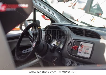 Skradin Croatia June 2020 Interior Cockpit View Of A Toyota Yaris Modified For Racing, Special Group