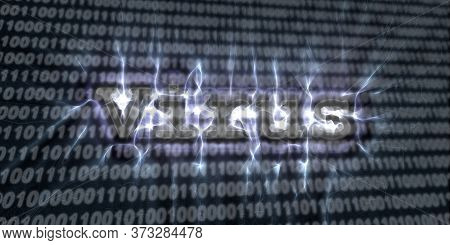 Banner Of Internet Security Buzzword Text Done With Kirlian Aura Photography