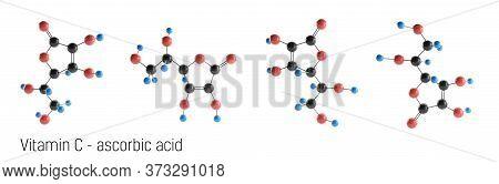 Vitamin C Molecule Structure. l-ascorbic acid, ascorbic acid, ascorbate. Vitamin C is great antioxidant.