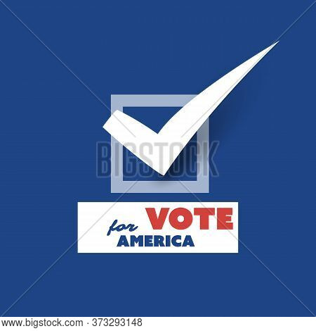 Usa Voting Encouragement Design Concept With Tick