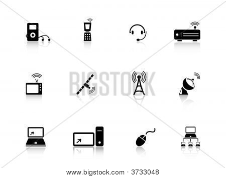 poster of Set of media and communications icons from a series in my portfolio.