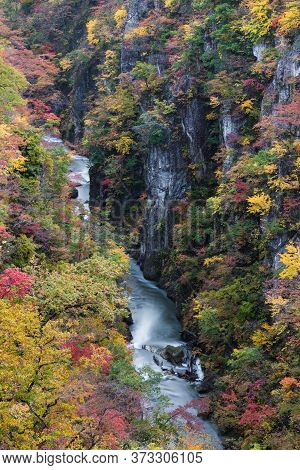 Naruko Gorge ,one of the Tohoku Region's most scenic gorges, located in north-western Miyagi Prefect