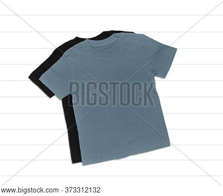 Black And Gray T-shirt Mockup On White Background, Adult T-shirts, Heather Grey And Black T-shirt