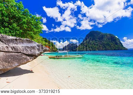Paradise nature and  exotic wild beauty of unique Palawan island. Splenid  El Nido. Philippines