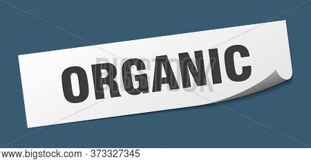 Organic Sticker. Organic Square Isolated Sign. Organic