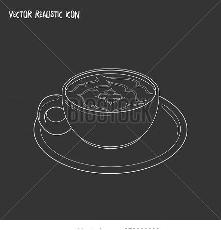 Mocha Icon Line Element. Vector Illustration Of Mocha Icon Line Isolated On Clean Background For You