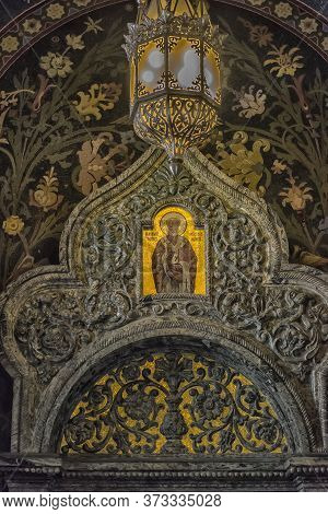 Russia, St. Petersburg, 23,09,2017 Interior Of The Church Of The Savior On Spilled Blood