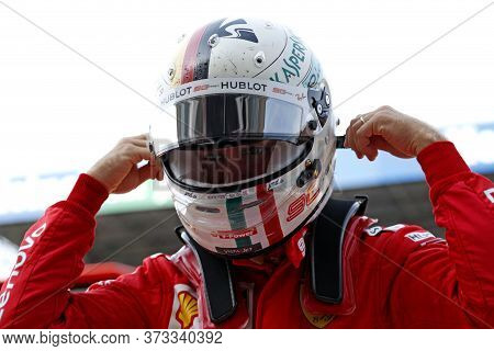 Monza, Italy. 7th September 2019. Formula 1 Grand Prix Of Italy. Sebastian Vettel Of Scuderia Ferrar