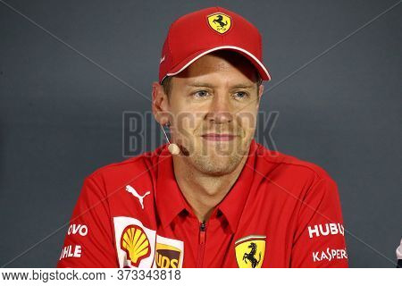 Monza, Italy. 6-8 September 2019. Formula 1 Grand Prix Of Italy. Sebastian Vettel Of Scuderia Ferrar