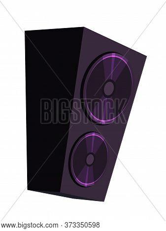 Cartoon Concert Loudspeaker Musical Accessory For Recording Studio. Audio Device For Listening Creat