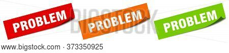 Problem Sticker. Problem Square Isolated Sign. Problem Label