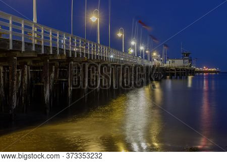 Santa Cruz Municipal Wharf At Blue Hour