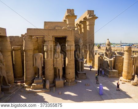 Luxor, Egypt - November 4, 2019: View Of The Luxor Temple.