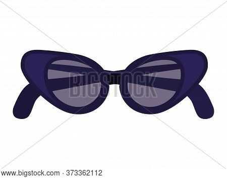 Glasses Icon Design, Fashion Style Accessory Eyesight Optical Lens View Modern Sight And Eye Theme V