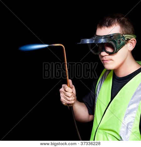 Panelbeater In Safety Goggles