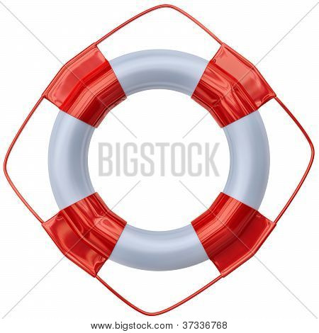 a large lifebuoy as life saving equipment for aid a person fallen overboard poster